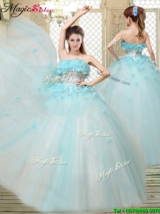 Beautiful Strapless Quinceanera Dresses with Appliques and Ruffles