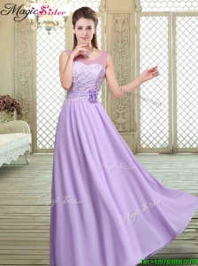 Best Scoop Lace Prom Dresses in Lavender