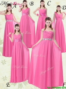 Fashionable Empire Ruching Prom Dresses for Rose Pink