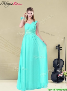 Gorgeous Empire Bridesmaid Dresses with Belt in Apple Green