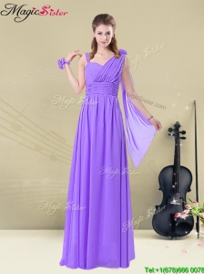Gorgeous Straps Floor Length  Bridesmaid Dresses for Fall