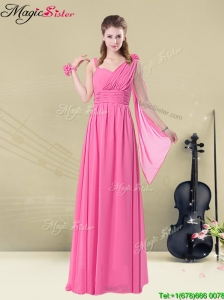 New Style Empire Straps Ruching Prom Dresses