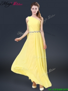 Pretty Floor Length Prom Dresses with Belt