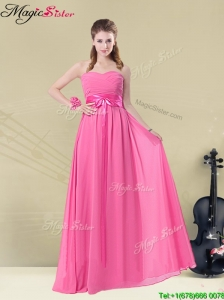 Pretty Sweetheart Bridesmaid Dresses with Ruching and Belt