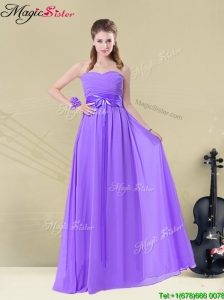 Pretty Sweetheart Floor Length  Prom Dresses with Belt