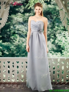Romantic Empire Sweetheart Prom Dresses with Hand Made Flowers