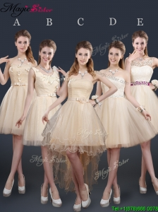 Sweet Short Prom Dresses with Appliques and Belt