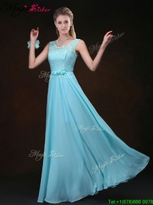 Sweet Scoop Lace Bridesmaid Elegant Dresses with Lace