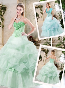 Cheap A Line Quinceanera Dresses with Hand Made Flowers