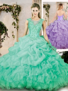 2016 Latest Sweetheart Appliques Quinceanera Dresses with Brush Train
