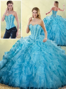 2016 Pretty Sweetheart Ball Gown Detachable Quinceanera Skirts with Beading