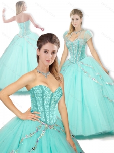 2016  Cute  Sweetheart Beading Quinceanera Dresses for Spring