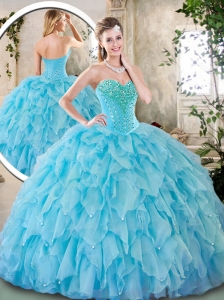 Cute Sweetheart Beading Quinceanera Dresses for 2016