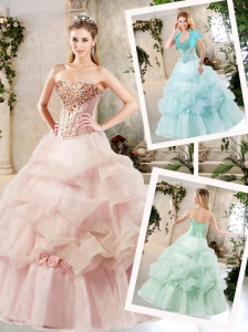 Pretty A Line Sweet 16 Dresses with Beading and Pick Ups