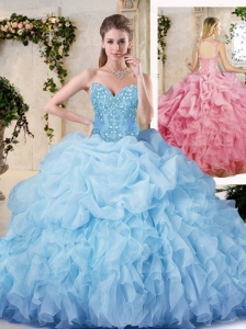 Pretty Ball Gown SQuinceanera Dresses with Appliques and Ruffles