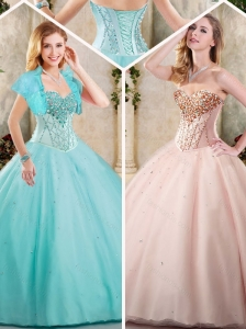 Pretty Beading Sweetheart Quinceanera Gowns for 2016