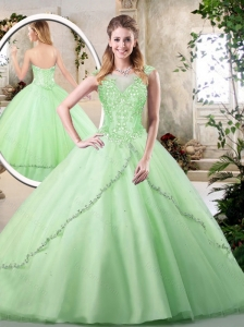 Pretty Sweetheart Quinceanera Dresses in Apple Green