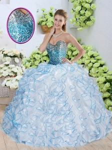 Pretty Sweetheart Quinceanera Dresses with Sequins and Ruffles
