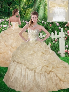 Beautiful Beading 2016 Sweet 16 Dresses with Brush Train