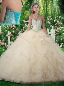 Cute A Line Sweetheart Sweet 16 Dresses with Beading