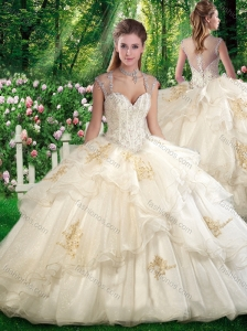 Cute Ball Gown Sweet 16 Dresses with Beading and Appliques