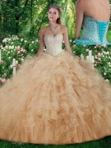 Cute Sweetheart Quinceanera Dresses with Beading and Ruffles for Fall