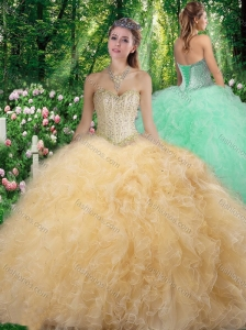 Gorgeous Sweetheart 2016 Quinceanera Dresses with Beading and Ruffles
