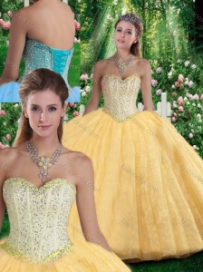 Simple Ball Gown Sweetheart Beading Quinceanera Gowns for Fall