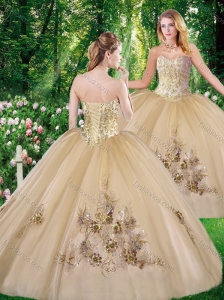 2016 Perfect Ball Gown Beading Quinceanera Dresses with for all
