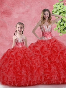 Cheap Ball Gown Sweetheart Princesita with Quinceanera Dresses  in Red
