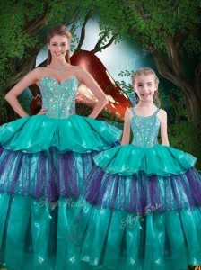 Hot Sale Ball Gown Princesita with Quinceanera Dresses with Ruffled Layers