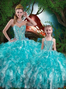 Hot Sale Sweetheart Princesita with Quinceanera Dresses with Beading and Ruffles for Summer