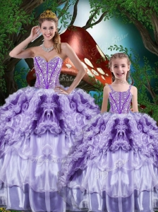 Luxurious Ball Gown Beading and Ruffles Princesita with Quinceanera Dresses for 2016