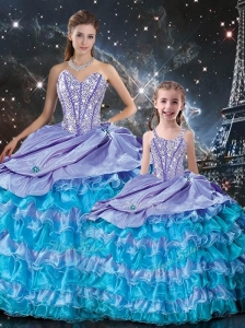 New Arrivals Ball Gown Beading and Ruffled Layers Princesita with Quinceanera Dresses