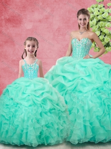 Spring Classical Ball Gown Pick UpsPrincesita with Quinceanera Dresses in Apple Green