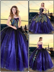 Cheap Appliques Ball Gown Quinceanera Dresses in Purple