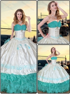 Luxurious Ruffled Layers and Embroidery Quinceanera Dresses for 2016