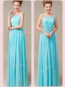 Fashionable Empire Scoop Bridesmaid Dresses with Appliques and Lace