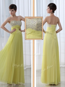 Low Price Sweetheart Floor Length Beading Popular Prom Dress for Graduation