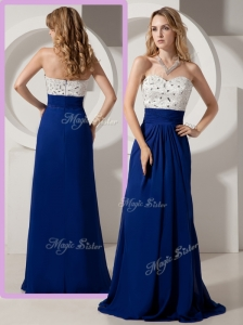 Most Popular Empire Brush Train Beading Prom Dresses for Evening