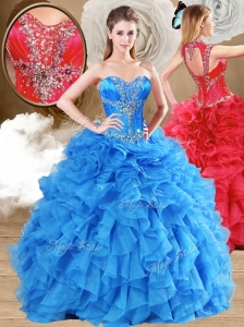 New Arrivals Ball Gown Sweet 16 Gowns Quinceanera Dresses with Beading and Ruffles