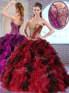 Most Popular Sweetheart Quinceanera Dresses with Appliques and Ruffles