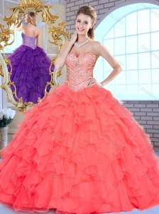 Beautiful Ball Gown Beading and Ruffles Quinceanera Dresses