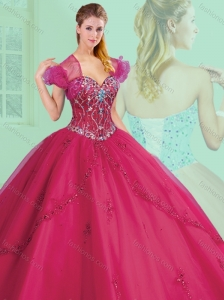 Inexpensive Sweetheart Beading and Appliques Quinceanera Dresses