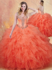 Cute Straps Sweet 16 Quinceanera Dresses with Ruffles and Appliques