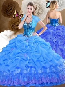 Romantic Sweetheart Quinceanera Dresses with Beading and Pick Ups