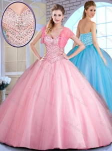 2016 Clearance  Ball Gown Ball Gown Sweet 16 Quinceanera Dresses with Beading