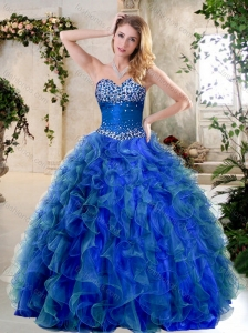 Clearance A Line Sweetheart Quinceanera Dresses with Beading and Ruffles