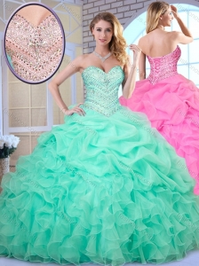 Clearance Ball Gown Beading and Pick Ups Quinceanera Dresses