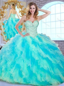 Clearance Ball Gown Multi Color Sweet 16 Quinceanera Dresses with Beading and Ruffle 2016